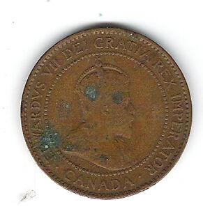 Coin 1906 Canada 1 Cent Penny Kingston Kingston Area image 1