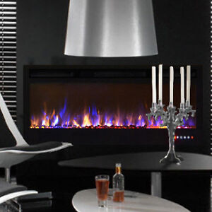 """50"""" Built In 3 Colour Touch Panel Electric Fireplace"""