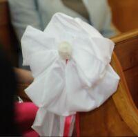Boucle d'église satin blanc
