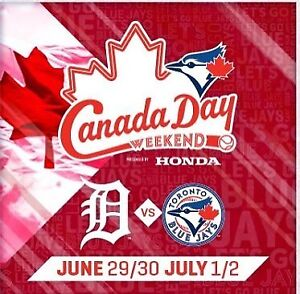 TORONTO BLUE JAYS DETROIT TIGERS SUN JULY 1 CANADA DAY HAT PROMO