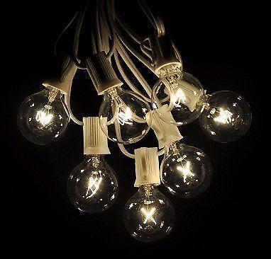 white globe string lights ebay. Black Bedroom Furniture Sets. Home Design Ideas