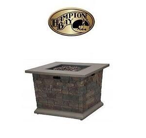 NEW* HAMPTON BAY OUTDOOR FIRE TABLE - 112602412 - GRAYLING 20 LBS PROPANE