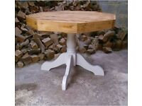 Beautiful Large Rustic Farmhouse Solid Wooden Table / Shabby Chic