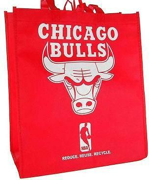 Licensed Chicago Bulls Fabric Shop Bag Tote 3 PACK  LAST ONES!   hat jersey ()