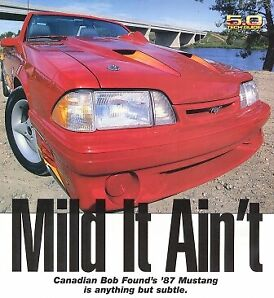 Mustang, 1987 convertible, highly customized, 520 hp