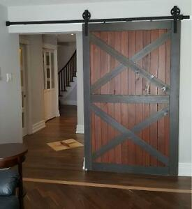 Barn door hardware with soft close- low shipping