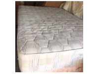 Brown leather bed with luxury mattress FREE DELIVERY