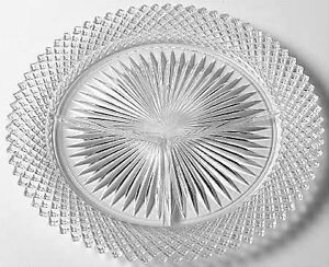 Vintage Miss America Clear Relish Dish