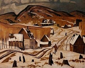 "A.J. Casson ""Early Snow"" Lithograph - Appraised at $800"