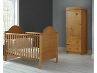 Obaby Winnie the Pooh single wardrobe and cot bed
