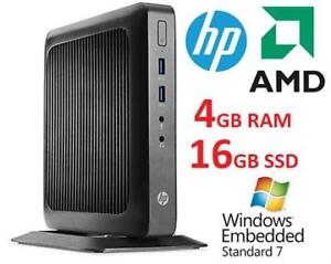 NEW HP THIN CLIENT SFF DESKTOP PC G9F08AA 192813531 GX 212JC 1.2 GHz 4GB RAM 16GB SSD WIN 7E EMBEDDED 32BIT OS COMPUTER