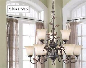 NEW ALLEN + ROTH 9-LIGHT CHANDELIER Ceiling Lights > Chandeliers HOME INDOOR LIGHTING DINING ROOM HALL 83803329
