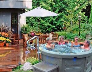 Plug and play 110 v rotospa hot tubs ( durable . Portable . At a great price )