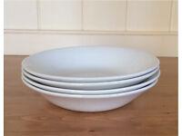 White bowls - set of 4