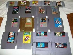 $$ I Pay Cash for Video Games Nintendo SNES N64 Gameboy SEGA $$