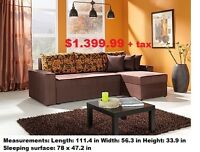 WILSON SECTIONAL SOFA BED WITH STORAGE