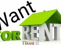 Want House/Flat 2/3 rooms to rent for Family