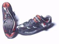 Specialized BG Pro Carbon X-Link Road Shoes Size 8, EU 42 + Keo cleats swap possible!