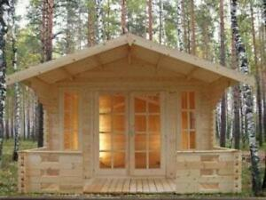 Swiss chalet style Solid Pine Tiny Timber House, garden shed,bunkie.