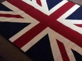 AS NEW ! - UNION JACK RUG - NO OFFERS