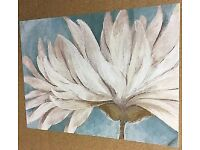 Brand New in Packaging Arthouse Duck Egg Blue Wall Canvas