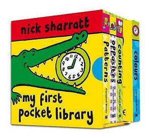 NEW  - NICK SHARRATT POCKET LIBRARY  Colours Counting Opposites Patterns
