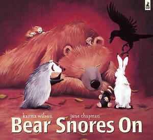 Bear Snores On with audio cd read by David Tennant, Wilson, Karma, Very Good Boo