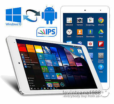 """8"""" Inch Cube Dual OS Android 5.1 & Windows 10 TABLET PC 32GB Intel Z8300 HDMI"""