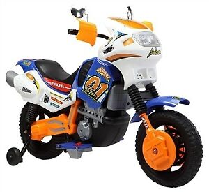 Child Ride On 12V Motorcycle Training Wheels Two Speeds more