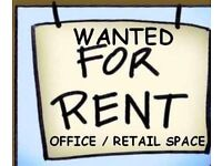 ** WANTED TO RENT **shop, unit, office, workshop - north west norfolk
