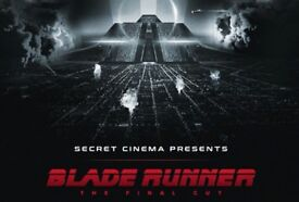 2 x Tickets Sectret Cinema BLADE RUNNER (Advance version) Thur 5th April