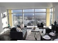 Luxury 2 bed, 2 bath, Private Balcony, 24hr Concierge near DLR in Pan Peninsula Square, East Tower