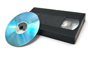 VHS Video Cassette Conversion to DVD Video Files