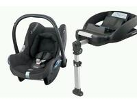 Maxi cosi cabriofix car seat and 2 bases