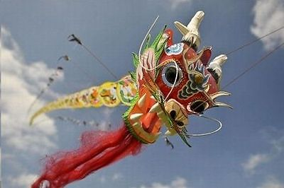 LONG TRADITIONAL CHINESE DRAGON KITE GREAT GIFT IDEAS ART DECO HANDICRAFT BUY on Rummage