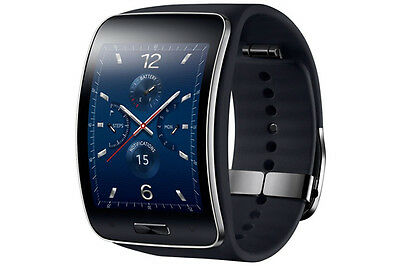 Genuine Samsung Galaxy gear S SM-R750 Curved AMOLED Smart Watch Black Wi-Fi