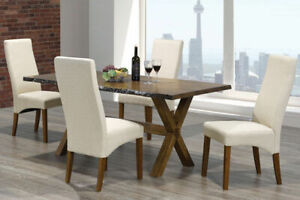 new modern live edge solid wood harvest dining table 2 sizes