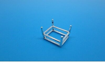 Shape Basket Setting (5x3mm - 30x22mm Sterling Silver Pre-Notched Emerald Shape Basket Head Setting )