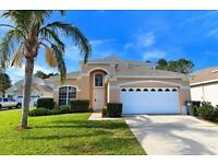 5 Bed Pool/spa/games room villa on Amazing Guard Gated Resort with Shuttle mins to Disney in Florida