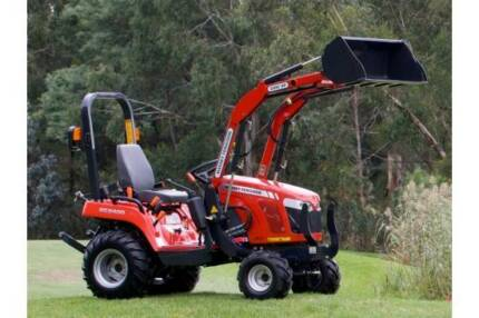 TRACTOR & LOADER WITH SLASHER OR ROTARY HOE - FOR DRY HIRE