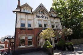 Bar Staff and Floor Staff required for stunning pub in Chislehurst with an award winning Company