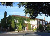 EXPERIENCED RESTAURANT waiting staff at The Bulls Head Chislehurst. Upto £8 ph+tips