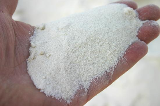 Sand from Alamogordo New Mexico - Near White Sands NM - White Gypsym Sand - 30ml
