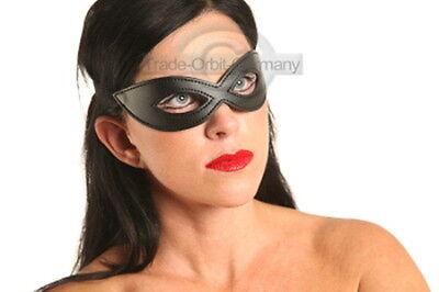 schwarze Kostüm  Augen maske Brille aus Kunst Leder