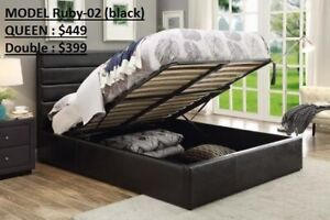 lift up bed / fabric bed / PU Leather bed