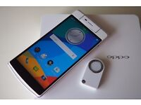 OPPO N3 32GB Dual-Sim (Unlocked) 4G LTE 5.5in 16MP N5206 Fingerprint VOOC White+O-Click+Smart Cover