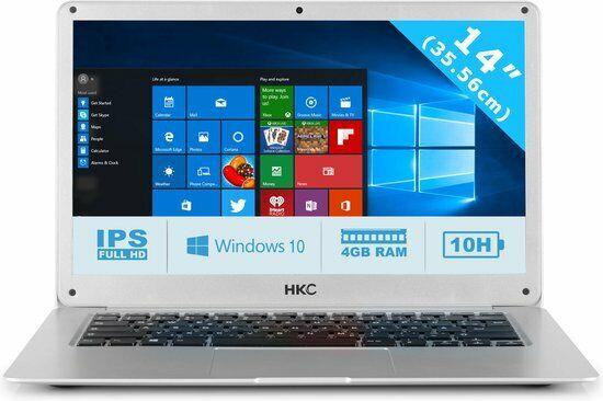 "Laptop Windows - Windows 10 Laptop 14.1"" HKC Intel Quad Core 4GB 32GB Silver"