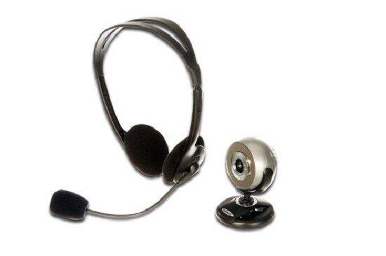 Webcam und Headset Konferenz Kit mit LEDs ednet 87224