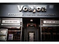 Experienced Waiter Required for Indian And Bengali Restaurant