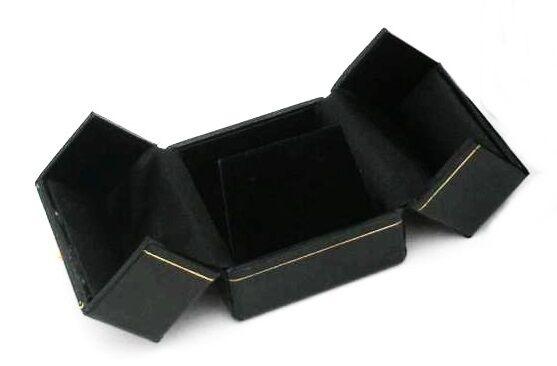 Wholesale Lot of 48 Black Double Door Earring Jewelry Display Gift Boxes